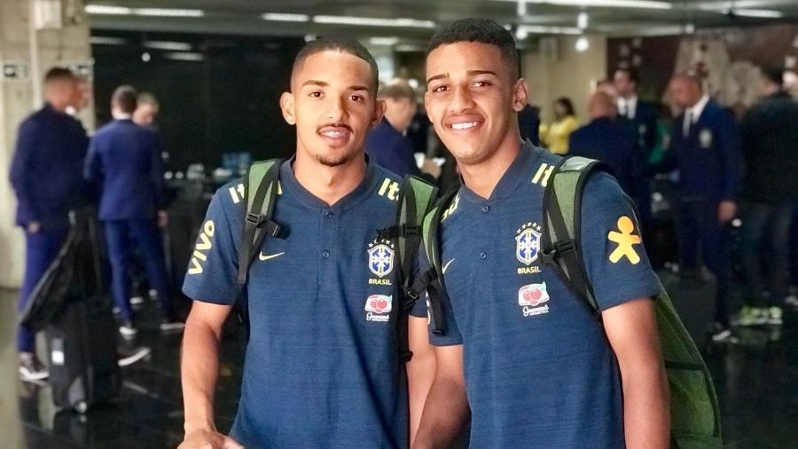 Vitinho, do Cruzeiro, e Brenner, do São Paulo, vão seguir com o elenco de Tite - Divulgação/CBF