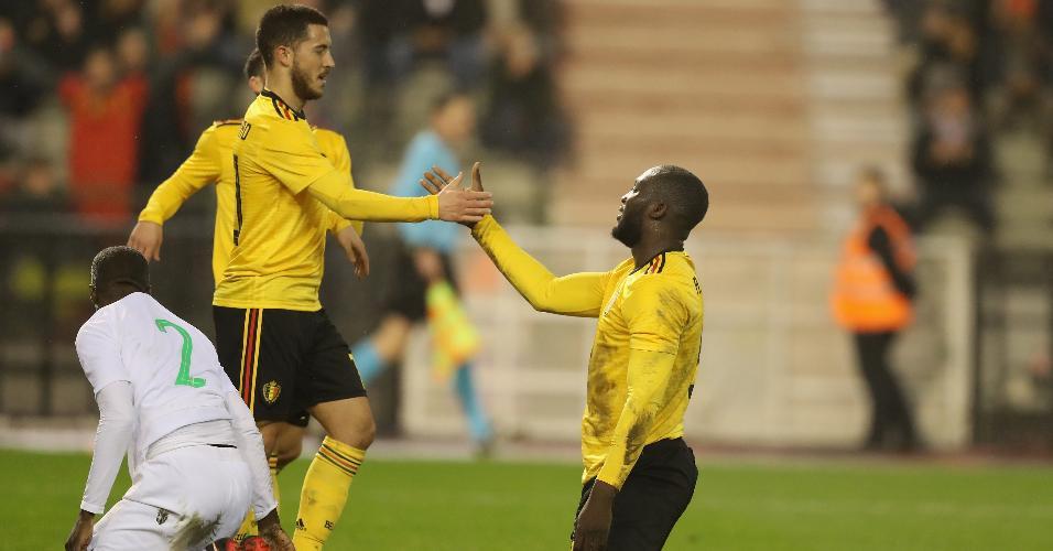 Hazard Lukaku Bélgica