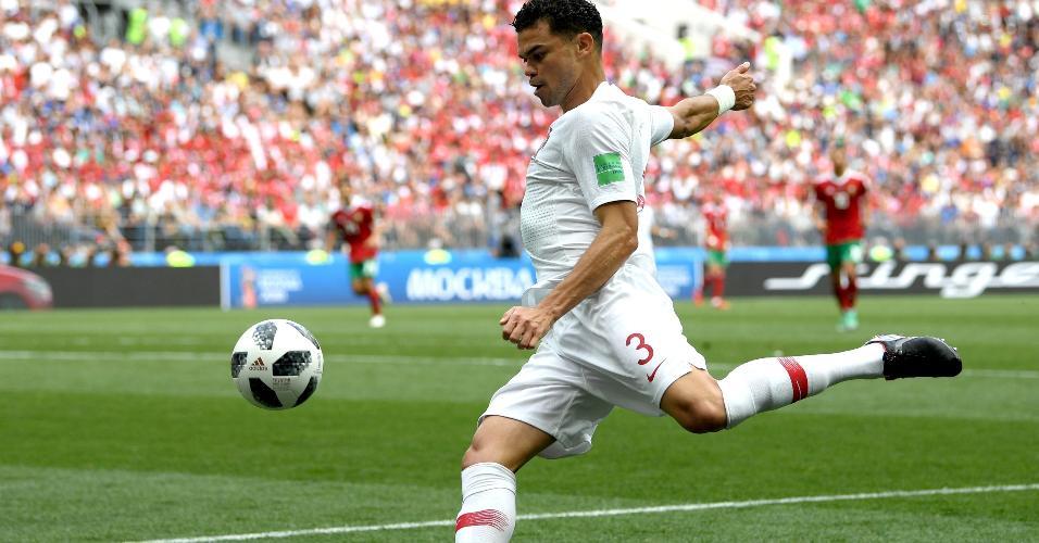 Pepe durante o jogo Portugal x Marrocos