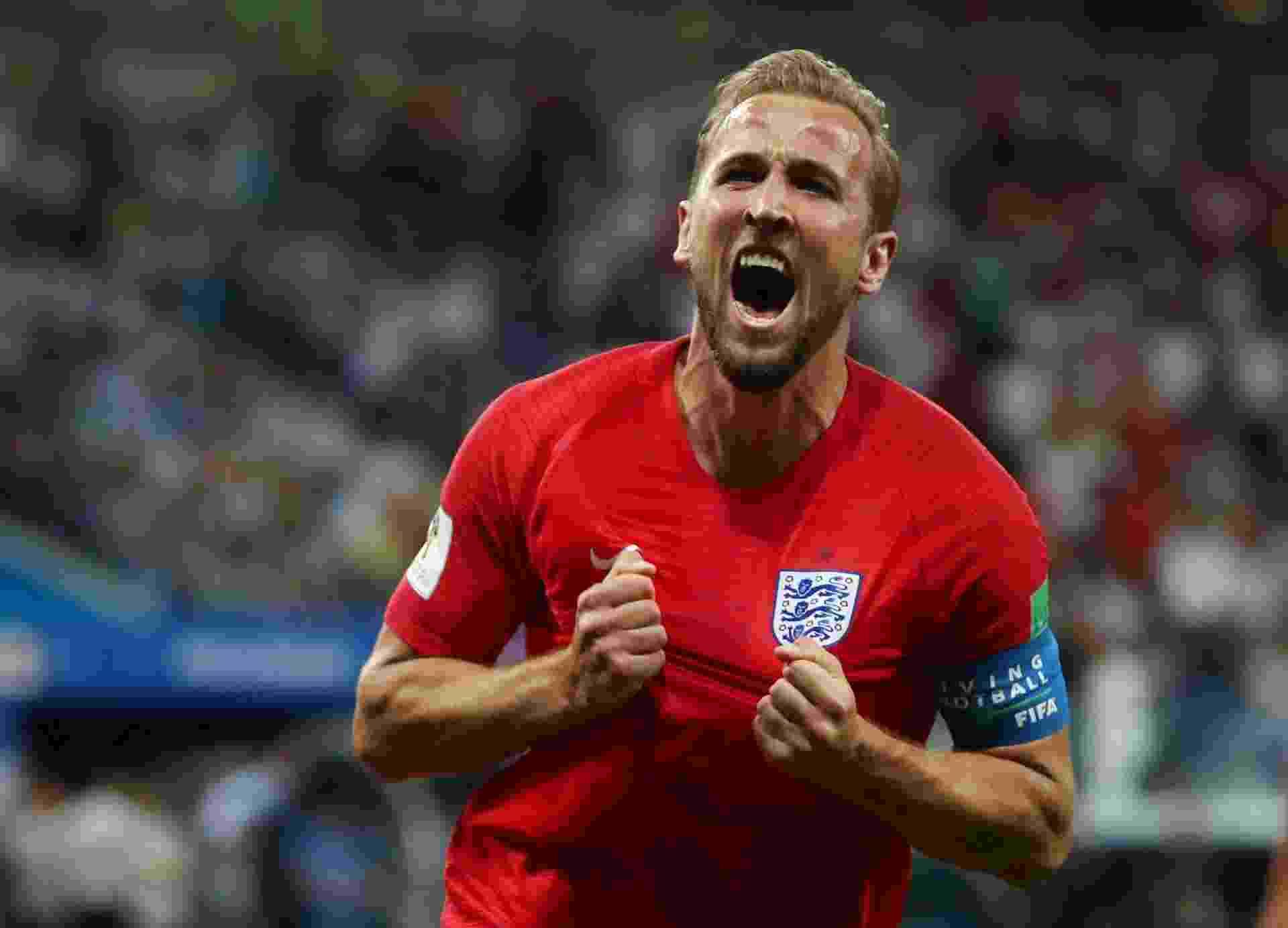 Harry Kane comemora gol da Inglaterra contra a Tunísia - Sergio Perez/Reuters