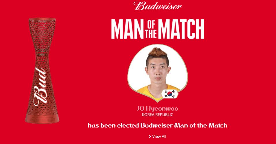 Jo Hyeonwoo é o melhor do jogo entre Coreia do Sul e Alemanha