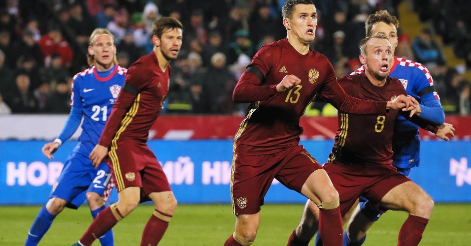 Amistoso entre Rússia e Croácia disputado em 2015