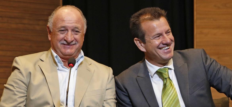 Os técnicos Dunga e Luiz Felipe Scolari - Divulgação