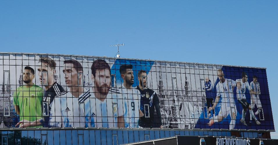 Vista do centro de treinamento da Argentina em Bronnitsy