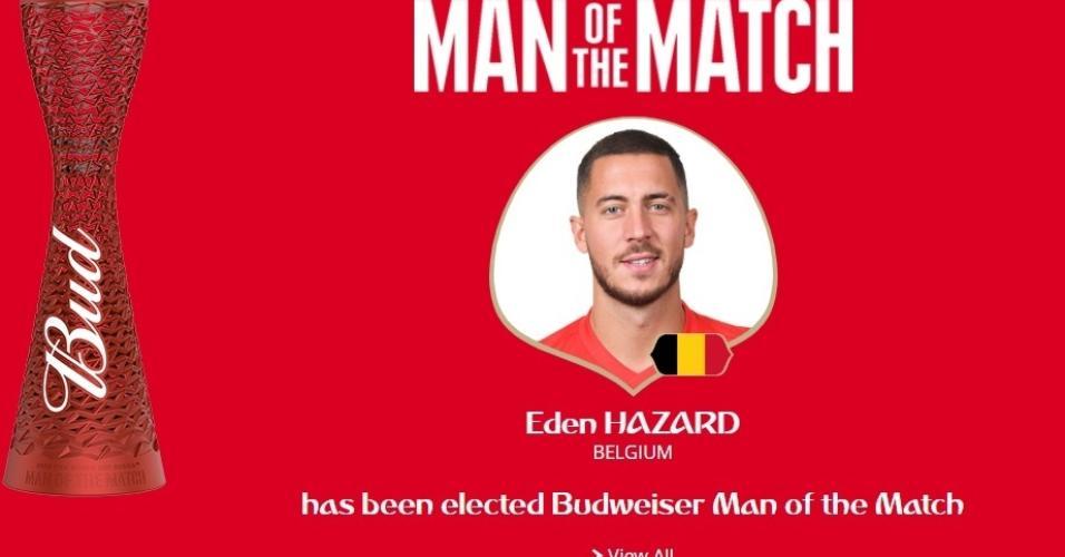 Eden Hazard foi eleito o