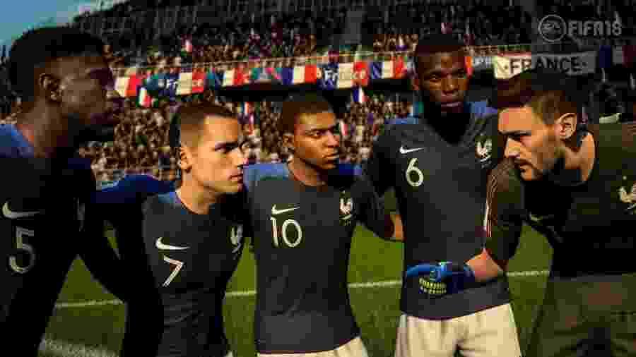 Avatares da seleção francesa no Fifa 18 - Divulgação/EA Sports