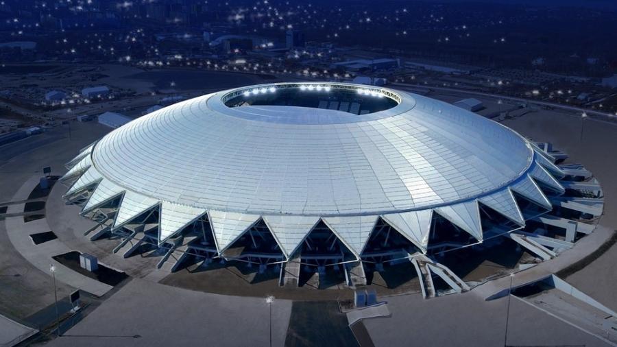 Cosmos Arena, também chamada de Samara Arena, sediou jogos da Copa do Mundo na Rússia - Divulgação/FC Krylia Sovetov Samara