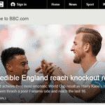BBC destaca goleada da Inglaterra sobre Panamá - Reprodução