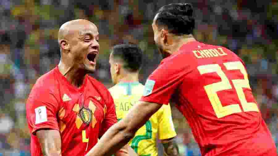 Kompany comemora gol da Bélgica sobre o Brasil - Toru Hanai/Reuters