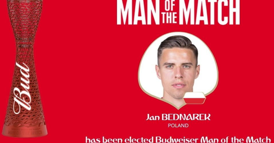 Autor do gol, Jan Bednarek é eleito o