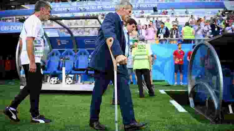 Óscar Tabárez comanda o Uruguai pela quarta Copa: 1990, 2010, 2014 e 2018 - Matthias Hangst/Getty Images - Matthias Hangst/Getty Images