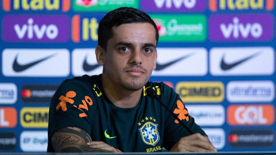 Fagner concede entrevista coletiva após treino da seleção brasileira - Pedro Martins / MoWA Press