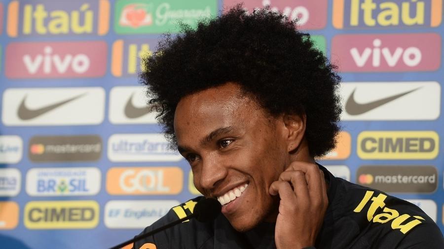 Willian dá coletiva na véspera de amistoso da seleção brasileira contra o Japão - Pedro Martins/Mowa Press