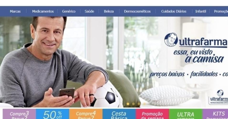 Dunga, ex-técnico da seleção, em propaganda para a Ultrafarma, patrocinadora da CBF