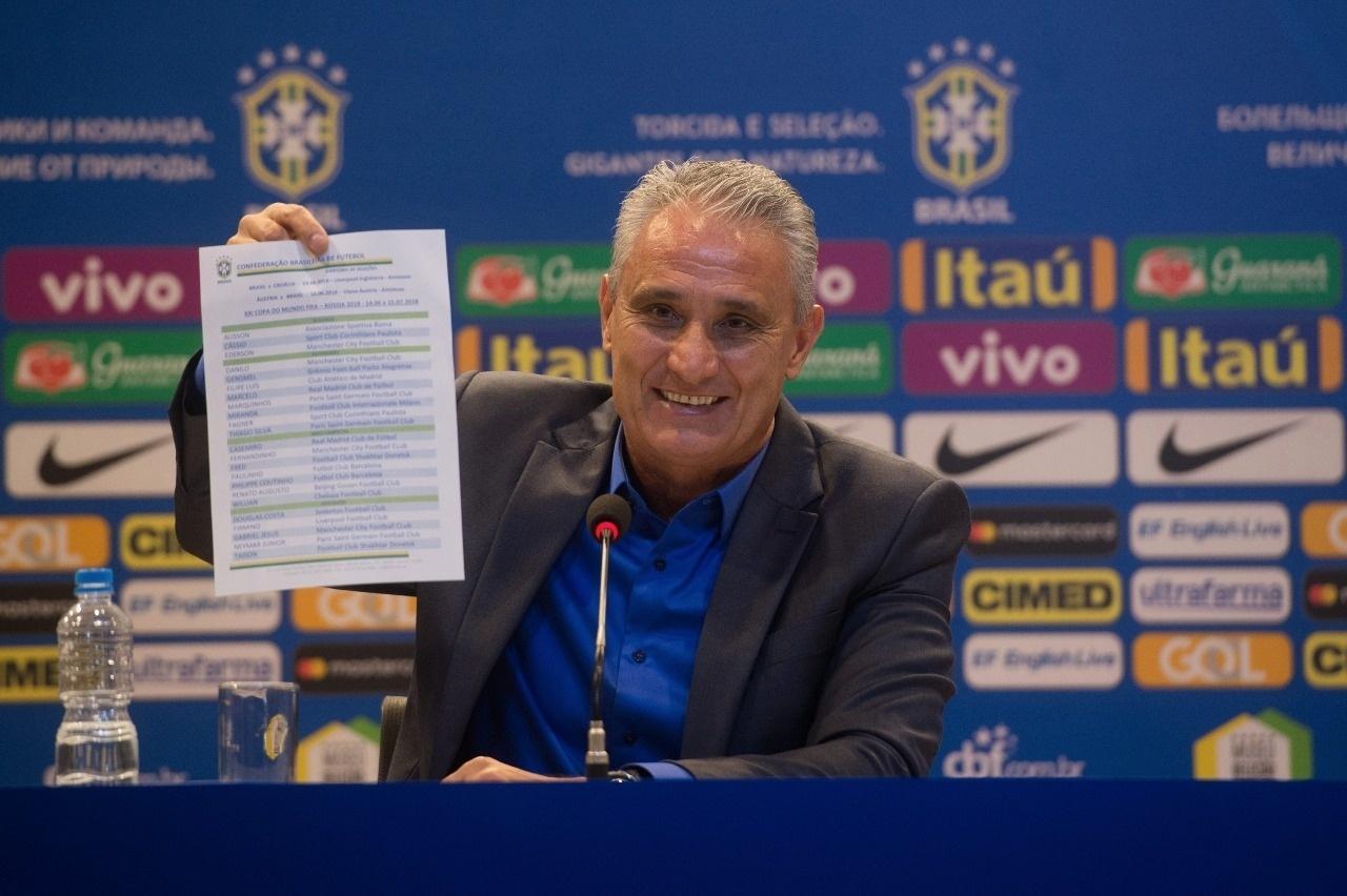 Tite divulga a lista de convocados para a Copa do Mundo da Rússia