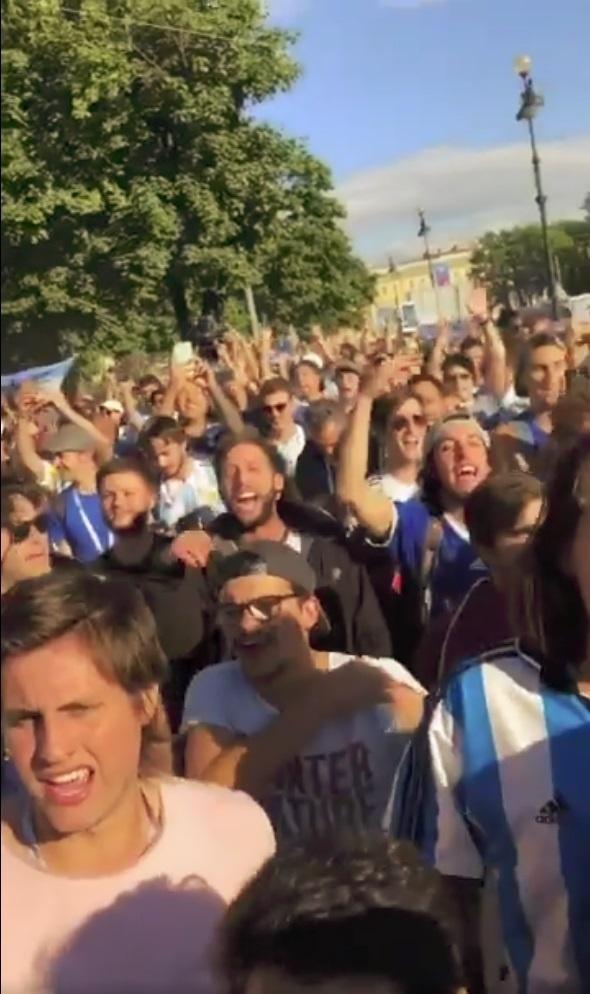 Argentina torcedores Copa do Mundo São Petersburgo hotel