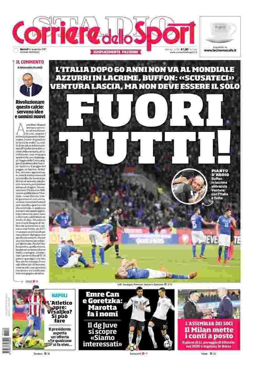 Jornal Corriere dello Sport - Reprodução/Corriere dello Sport