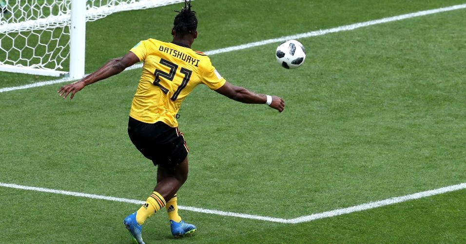 Michy Batshuayi perde gol em Bélgica x Tunísia