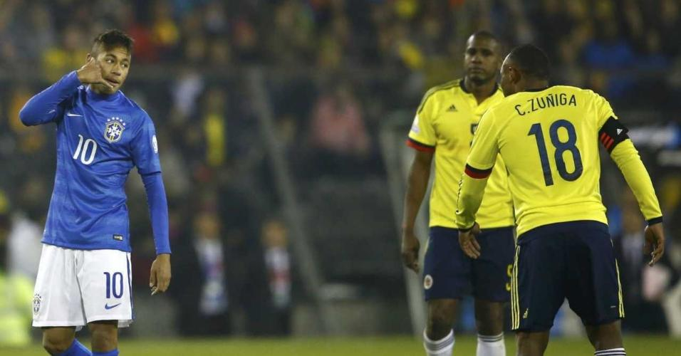 Neymar xingou Zuñiga na Copa América de 2015