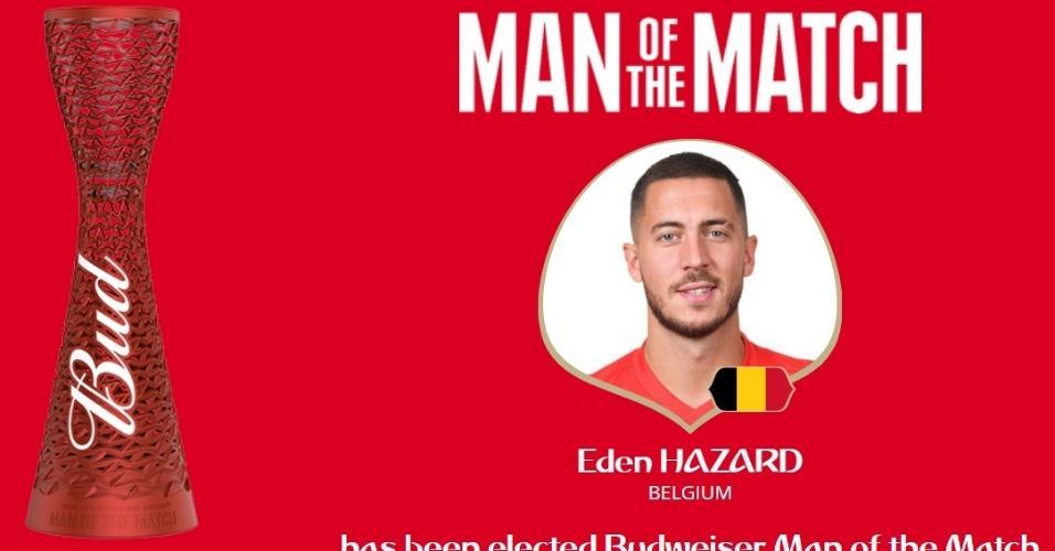 Eden Hazard é eleito o ?homem do jogo? em duelo entre Bélgica e Inglaterra