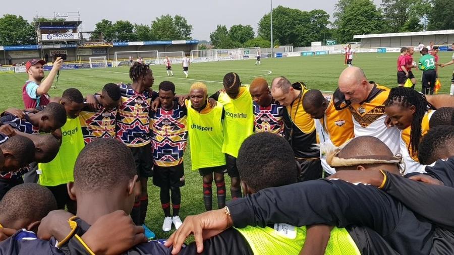 Matabeleland durante jogo de Copa de regiões não reconhecidas pela FIFA - Twitter/@CONIFAofficial