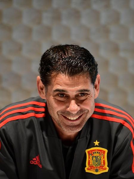 Fernando Hierro, quando técnico da seleção espanhola - Pierre-Philippe Marcou/AFP
