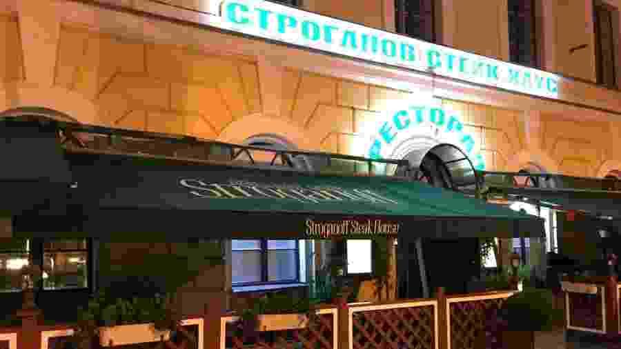 Fachada do restaurante em São Petersburgo, palco da discussão que terminou em agressão de dirigentes da CBF - Pedro Ivo Almeida/UOL