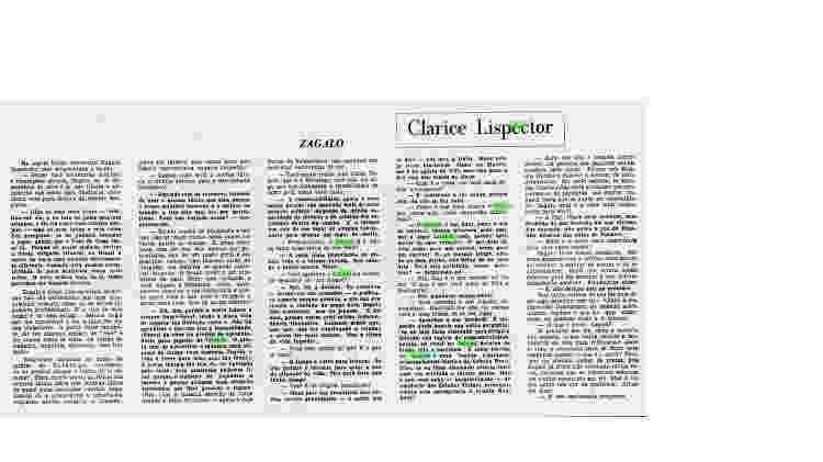 Entrevista publicada no Jornal do Brasil em 28 de março de 1970 - Reprodução