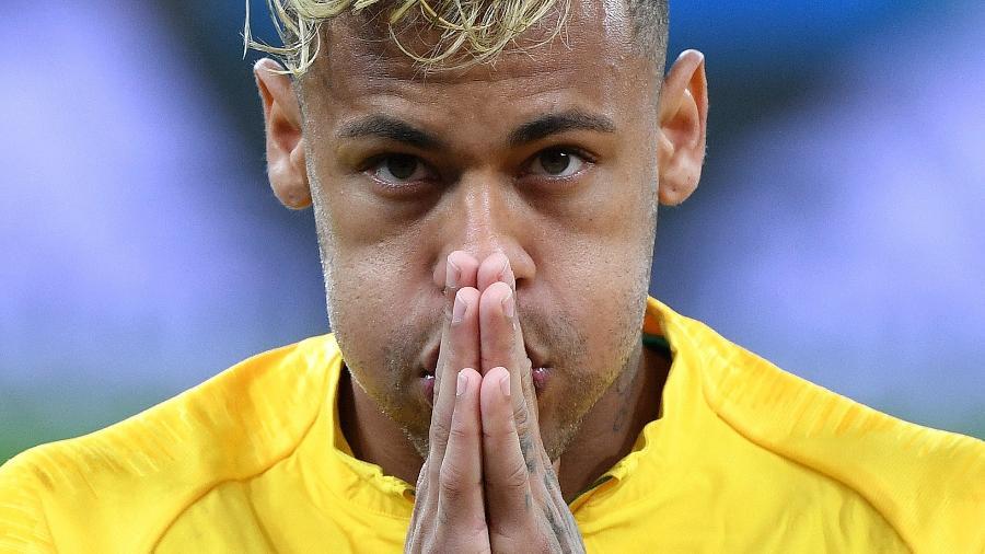 Neymar reage em campo na partida Brasil x Suíça pela Copa do Mundo de 2018 - Li Ga/Xinhua