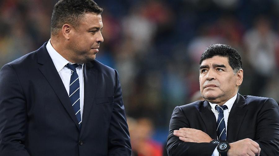 Maradona diz que Ronaldo seria o melhor da história se não tivesse lesões