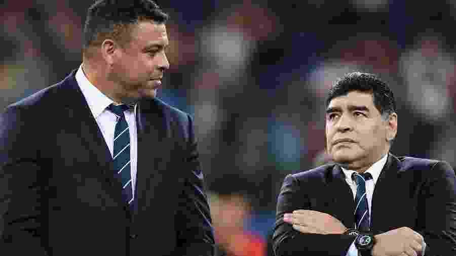 Ronaldo Fenômeno lamentou a morte de Diego Armando Maradona - AFP