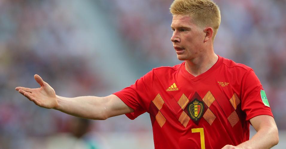 Kevin De Bruyne, da Bélgica, gesticula durante partida contra o Panamá na Copa do Mundo