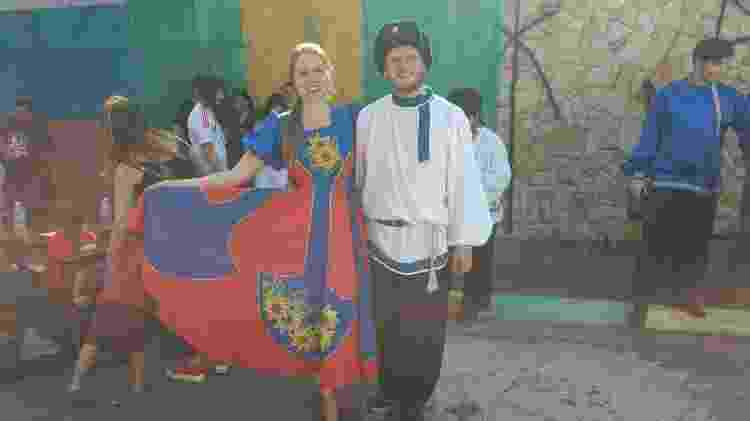 Casal trajes russos - Adriano Wilkson/UOL - Adriano Wilkson/UOL