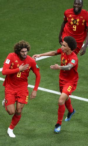 Fellaini, da Bélgica, comemora gol contra o Japão