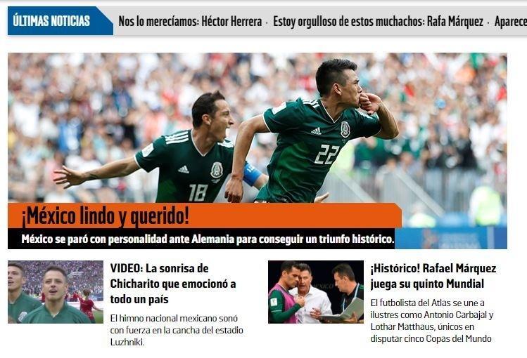 Jornal mexicano exalta vitória