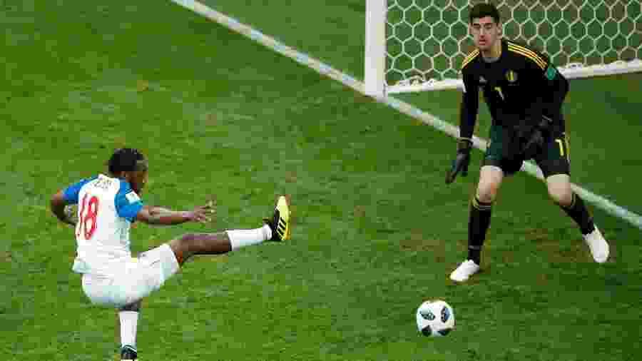 O atacante panamenho Luis Tejada durante a derrota para a Bélgica por 3 a 0 - Odd Andersen/AFP
