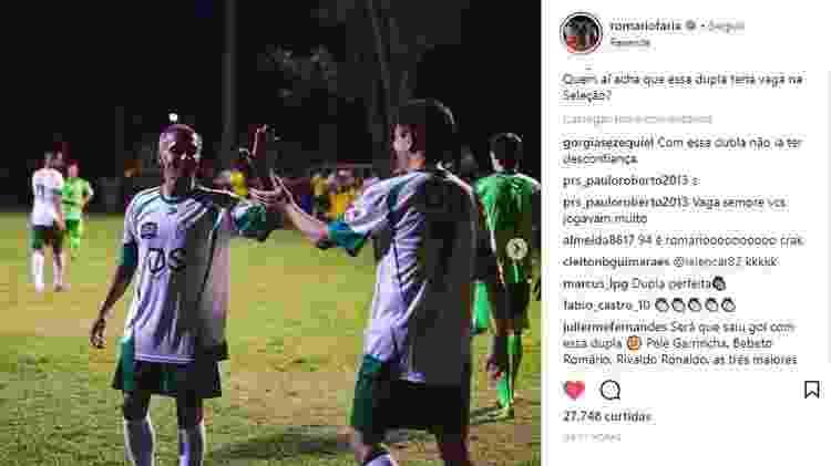 Romário e Bebeto - Reprodução/Instagram - Reprodução/Instagram