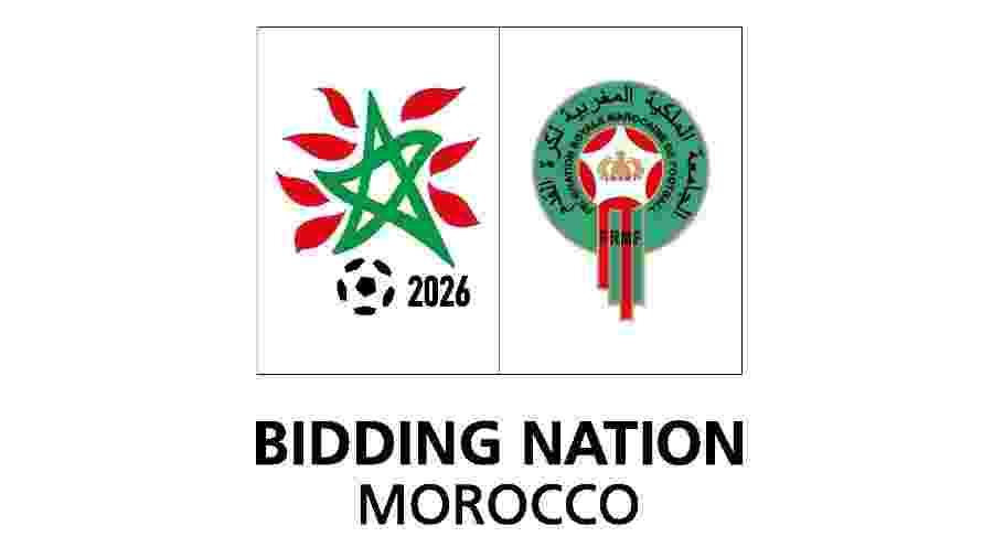 Logo da candidatura do Marrocos para a Copa do Mundo de 2026 - Divulgação