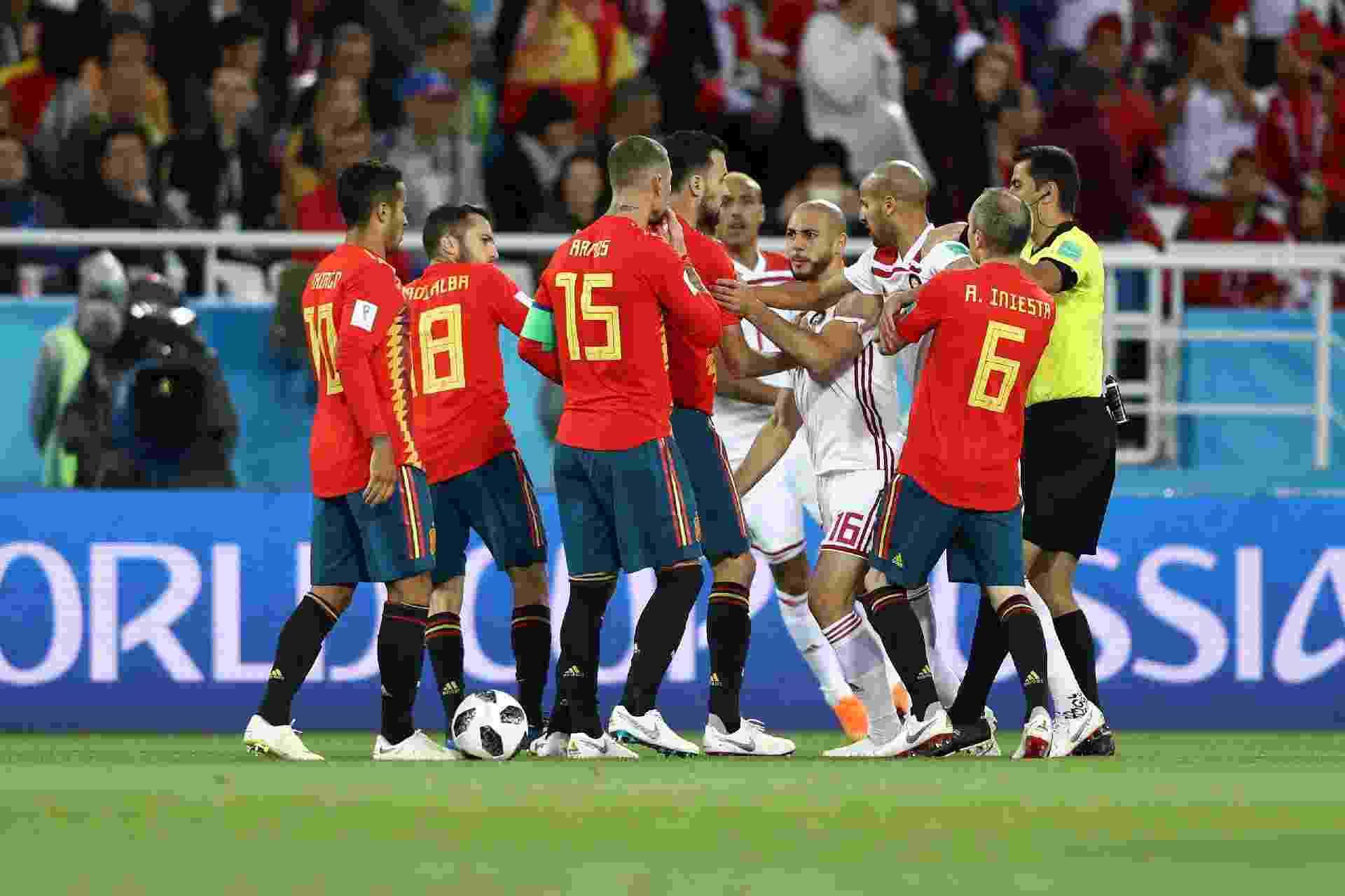 Sergio Ramos confusão Espanha Marrocos Copa do Mundo - Jamie Squire/Fifa/Getty Images