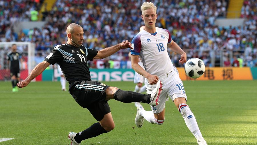 Mascherano na estreia da Argentina na Copa do Mundo - REUTERS/Albert Gea