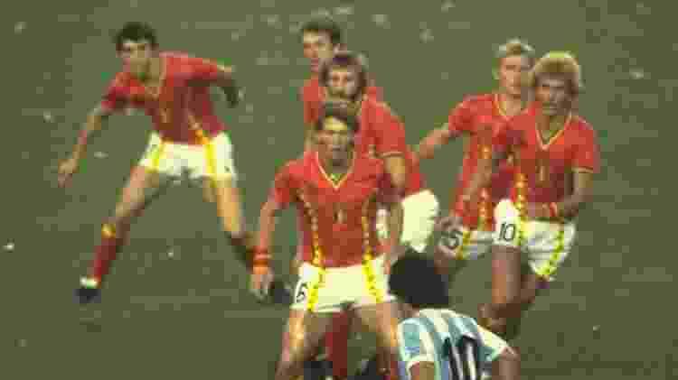 Maradona chamou a atenção do mundo já na Copa de 1982 - Steve Powell /Allsport/Getty Images - Steve Powell /Allsport/Getty Images