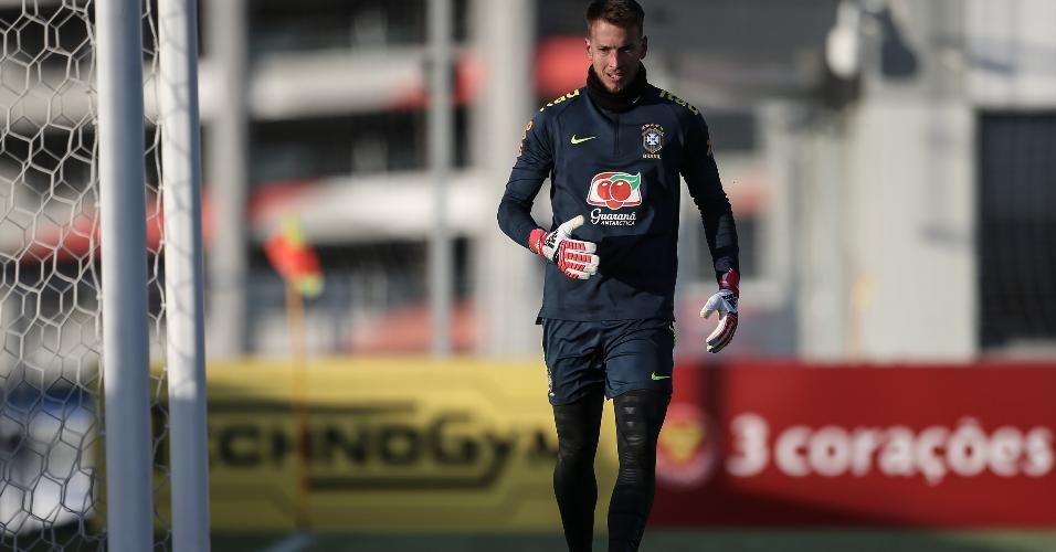 Neto treina com a seleção brasileira na Rússia