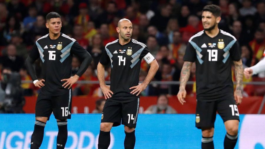 Isco comemora gol da Espanha contra a Argentina em amistoso - Javier Barbancho/Reuters