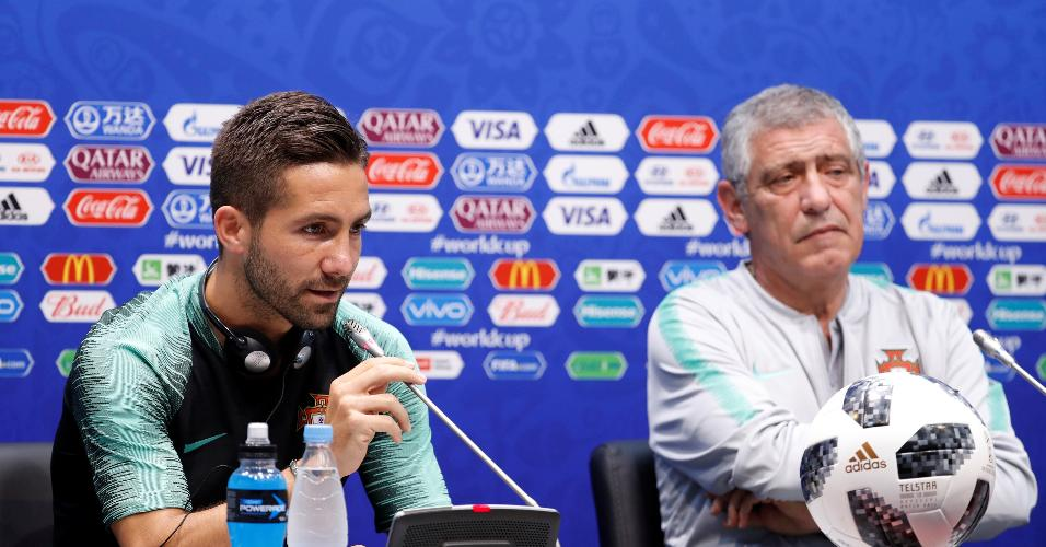 Coletiva de imprensa da seleção de Portugal com João Moutinho e o técnico Fernando Santos