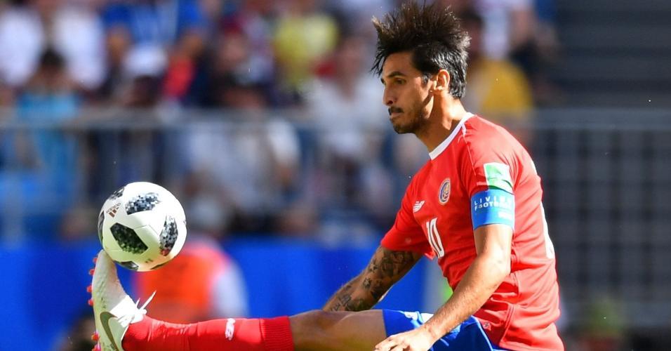 O meio-campista Bryan Ruiz, capitão da Costa Rica