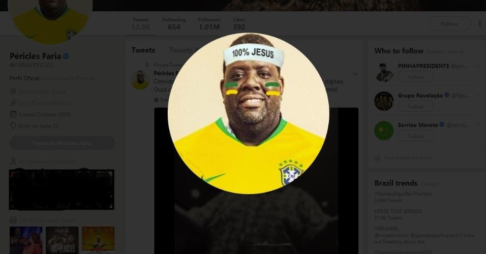 Péricles avatar 100% Jesus seleção brasileira