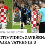 """Jutarnji: """"Vatreni, estamos com vocês! Fim do conto de fadas na Rússia! Brilhante Mbappé, Griezmann e Pogba, com a ajuda do juiz argentino e do VAR, deixaram a Croácia no hall do paraíso! Cabeça para cima!"""" - Reprodução"""