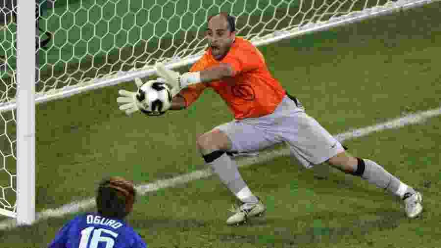 Goleiro Marcos durante a Copa das Confederações de 2005 - Marcus Brandt/AFP