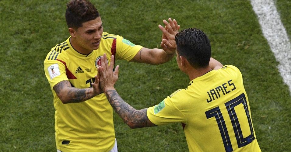 Juan Quintero e James Rodríguez são amigos antigos