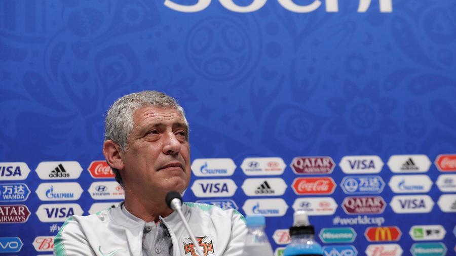 Fernando Santos, técnico de Portugal, em entrevista coletiva nesta sexta-feira - HENRY ROMERO/REUTERS